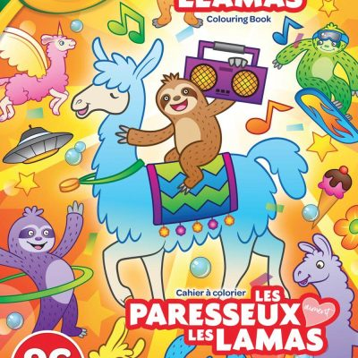 Cahiers a colorier les paresseux aiment les lamas 96pages