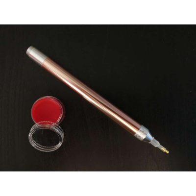 Jacarou - Kit Stylet lumineux Rose Gold pour Broderie de Diamants et Cire parfumé Poire