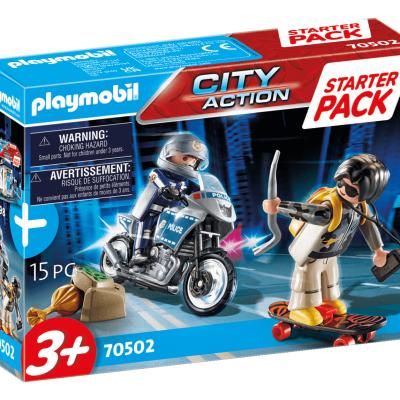 Playmobil City Action - StarterPack Motard de Police et Voleur # 70502