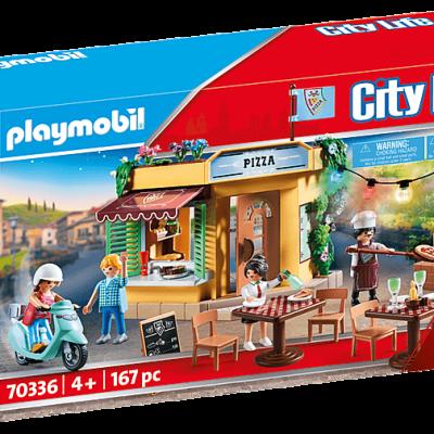 Playmobil City Life - Pizzeria avec terrasse # 70336
