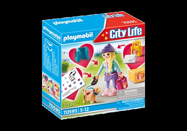 Playmobil City Life - Mannequin avec chien # 70595
