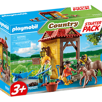 Playmobil Country - StarterPack Box et Poneys # 70501