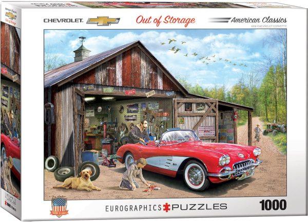 Casse-tête 1000 pièces - Out of Storage Corvette 1959