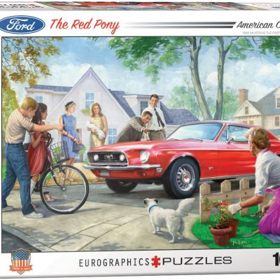 Casse-tête 1000 pièces - Le Poney Rouge
