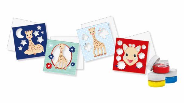 Sophie la Girafe/SES - Cartes à Peindre au Doigt
