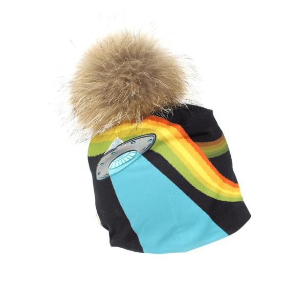 Tuque Soucoupes volantes avec pompon amovible - Taille XS