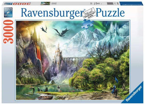 Casse-tête Ravensburger - Règne des Dragon 3000 mcx