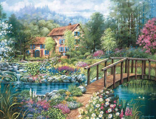 Casse-tête Ravensburger - Pause au Jardin 2000 mcx