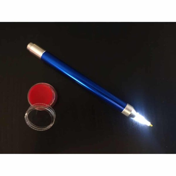 Jacarou - Kit Stylet lumineux Bleu pour Broderie de Diamants et Cire parfumée