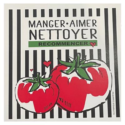 Linge aux Super-Pouvoirs - Manger Nettoyer Aimer Nettoyer Recommencer