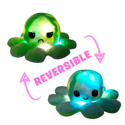 Pieuvre Réversible LED Bleu/Vert