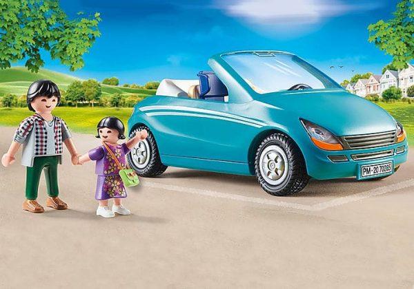 Playmobil City Life - Papa avec Enfant et Voiture Cabriolet # 70285