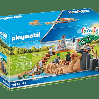 Playmobil Family Fun - Famille de Lions avec Végétation # 70343