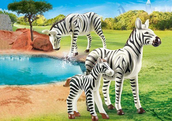 Playmobil Family Fun - Couple de zèbres avec bébé # 70356