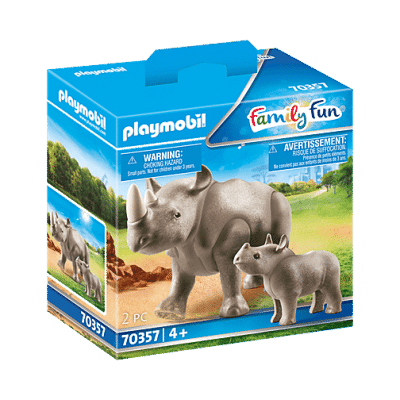 Playmobil Family Fun - Rhinocéros et son petit # 70357