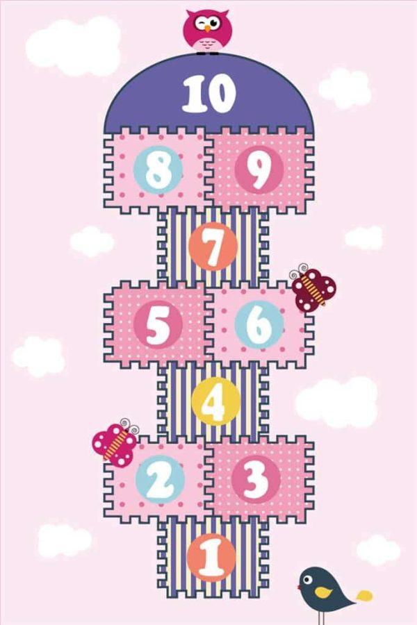 Tapis Rectangle 2' x 3' - Marelle Rose