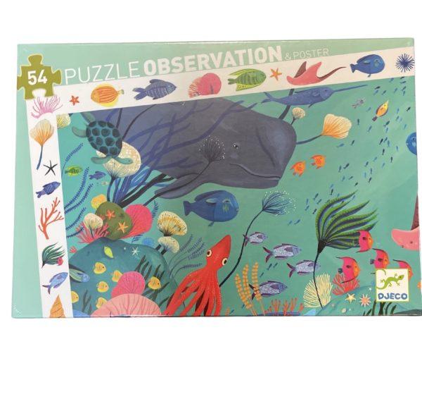 Casse-Tête Observation Aquatique 54 pc + Poster