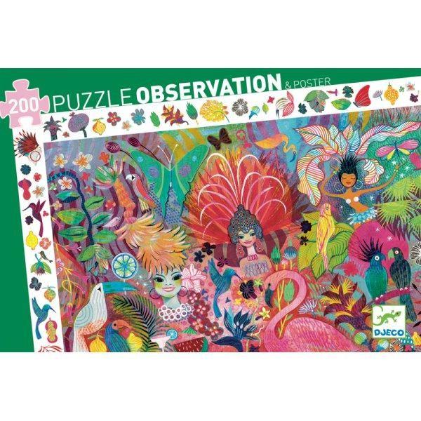 Casse-Tête Observation Carnaval 200 pc + Poster