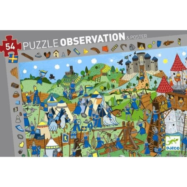 Casse-Tête Observation Chevaliers 54 pc + Poster