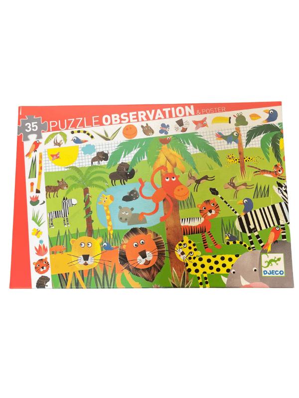 Casse-Tête Observation Jungle 35 pc + Poster