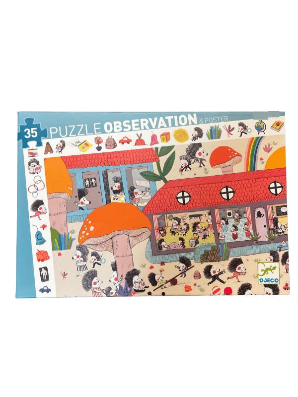 Casse-Tête Observation L'école des Hérissons 35 pc + Poster