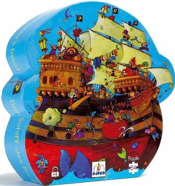 Casse-Tête Silhouette - Le bateau de Barberousse 54 pcs