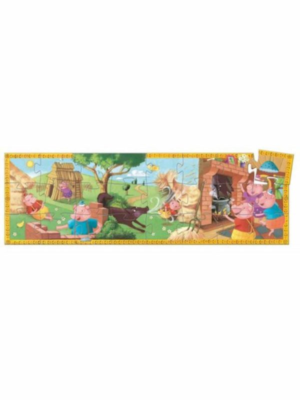 Casse-Tête Silhouette - Les trois petits Cochons 24 pcs