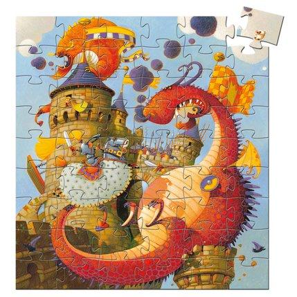 Casse-Tête Silhouette - Vaillant et le Dragon 54 pcs