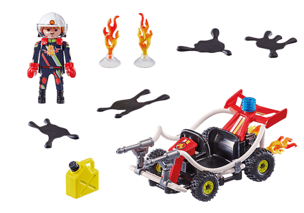 Playmobil Stuntshow - Stuntshow Véhicule et pompier # 70554